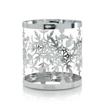Frosty Metal Jar Candle Holder