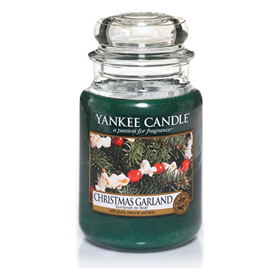 Christmas Garland Large Jar Candle