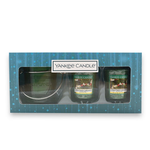 Christmas Garland Samplers Votive Gift Set