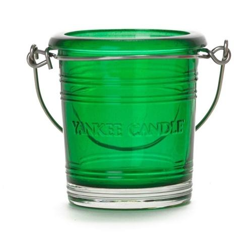 Emerald Bucket Votive Holder