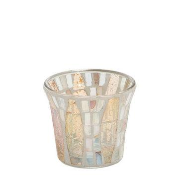 Gold Wave Mosaic Votive Holder