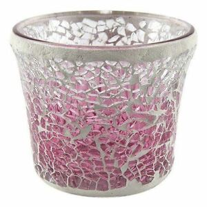 Pink Fade Mosaic Votive Holder