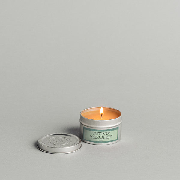 Forgotten Sage Travel Tin Candle