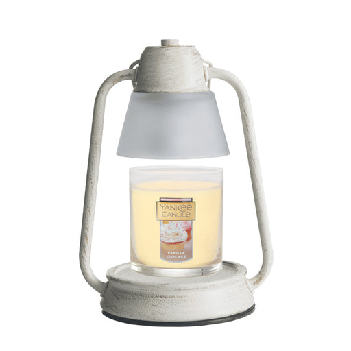Beacon Lantern Brushed Champagne Candle Warmer with FREE Vanilla Cupcake Small Tumbler Candle