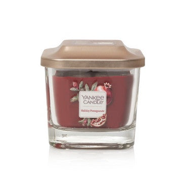 Holiday Pomegranate Small 1-Wick Square Candle