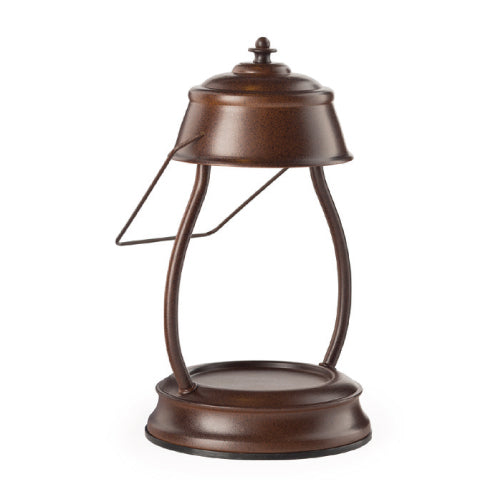 Hurricane Lantern Rustic Brown Candle Warmer