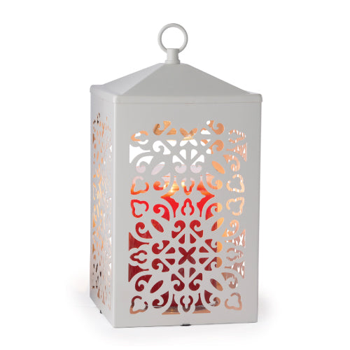 Scroll Lantern White Candle Warmer