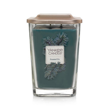 Frosted Fir Large 2-Wick Square Candle
