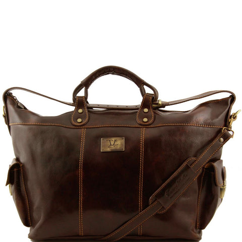 Porto Travel leather weekender bag