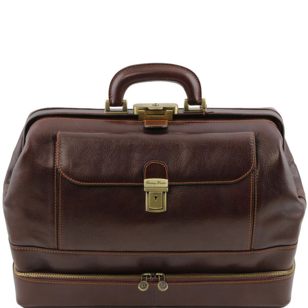 Giotto Exclusive double-bottom leather doctor bag