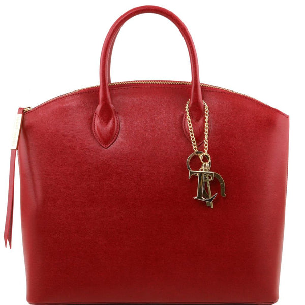 TL KeyLuck Saffiano leather tote - Large size