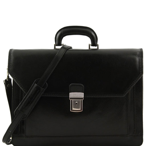 Roma Leather briefcase 3 compartments