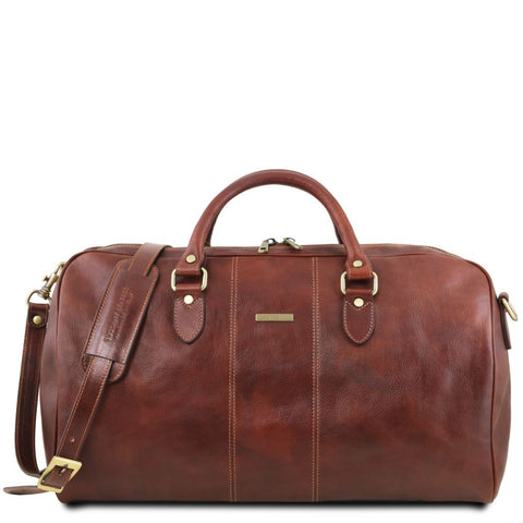 Lisbona Travel leather duffle bag - Large size
