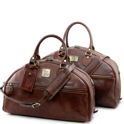 Magellan Leather travel set