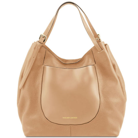 Cinzia Soft leather shopping bag