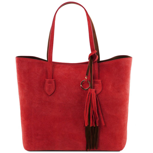TL Bag Suede leather shopping bag