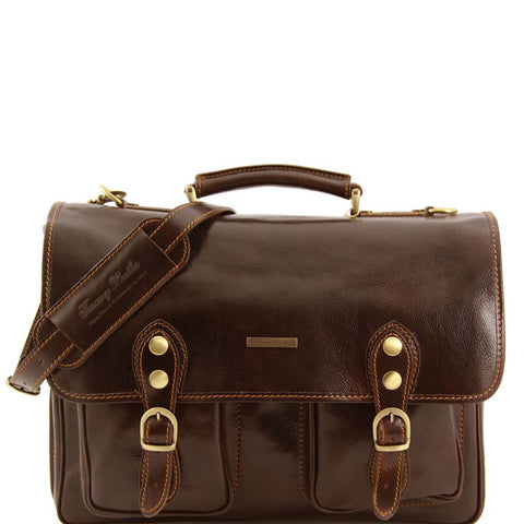 Modena Leather briefcase 2 compartments