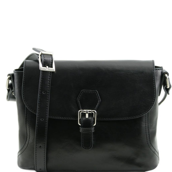 Jody Leather shoulder bag with flap