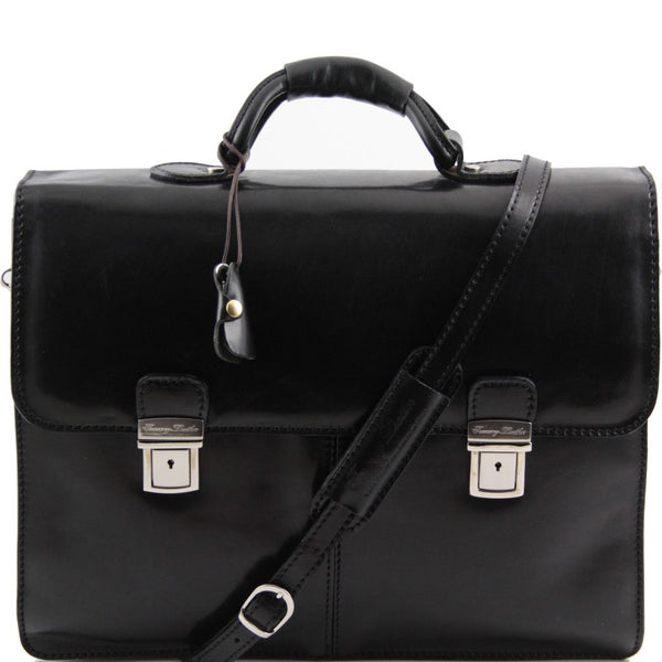 Bolgheri Leather briefcase 2 compartments