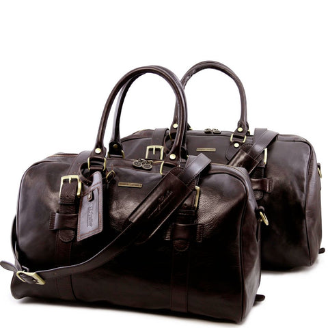 Vespucci Leather travel set