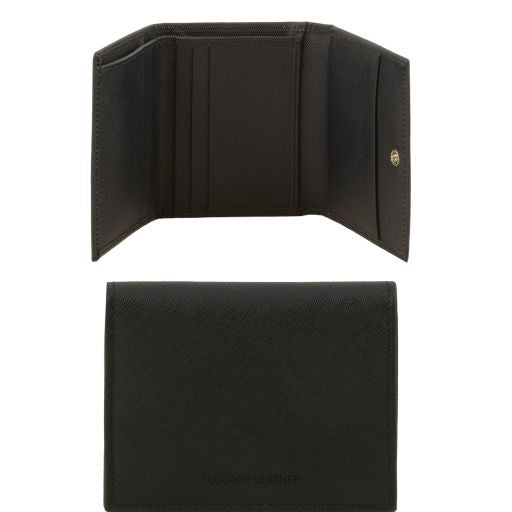 Exclusive 3 fold Saffiano leather wallet for men