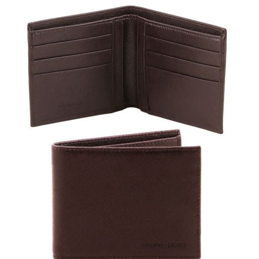 Exclusive 2 fold Saffiano leather wallet for men