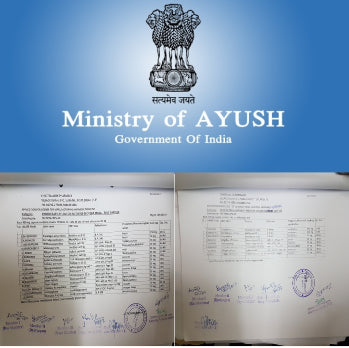 zeoveda herbals developed Ministry of Ayush (Govt. of India) Approved formulations