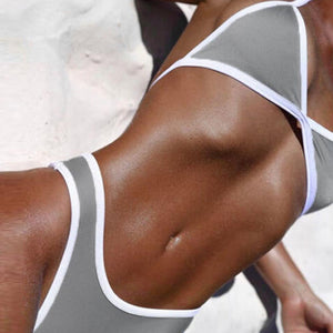 Women Cross Bandage Beach Bathing Suit Bikini Swimwear