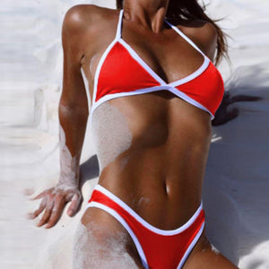Women Cross Bandage Beach Bathing Suit and Bikini Swimwear