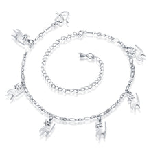 Cute Beach Silver Cat Ankle Bracelet / Pendant Chain