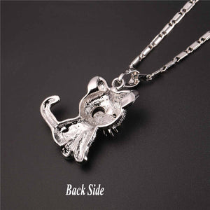 Cute Cat Necklace Link Chain For Women - Gold and Silver Color