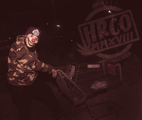 Clown Mask w/ shopping cart