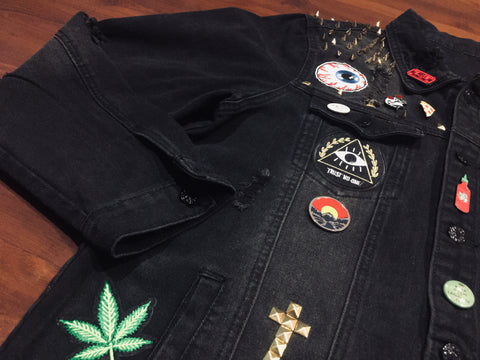 Anything Goes Black Denim Jacket