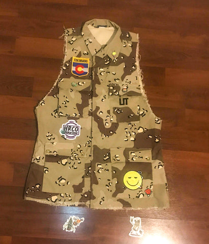 One of a Kind HRCO Desert Camo Vest