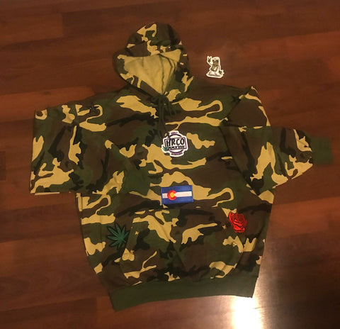 One Of A Kind HRCO Camo Pullover Hoodie