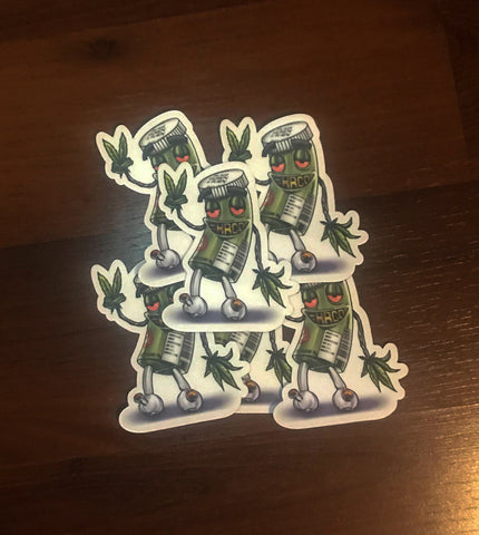 "#HRCO ""CannaMan"" Stickers"
