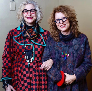 "Dayle from ""Artfulcitystyle"" with Michaela Malin at the Curate show, taken by Denton Taylor"