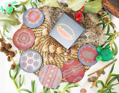 Authentic Aboriginal Coasters - Whitton Art