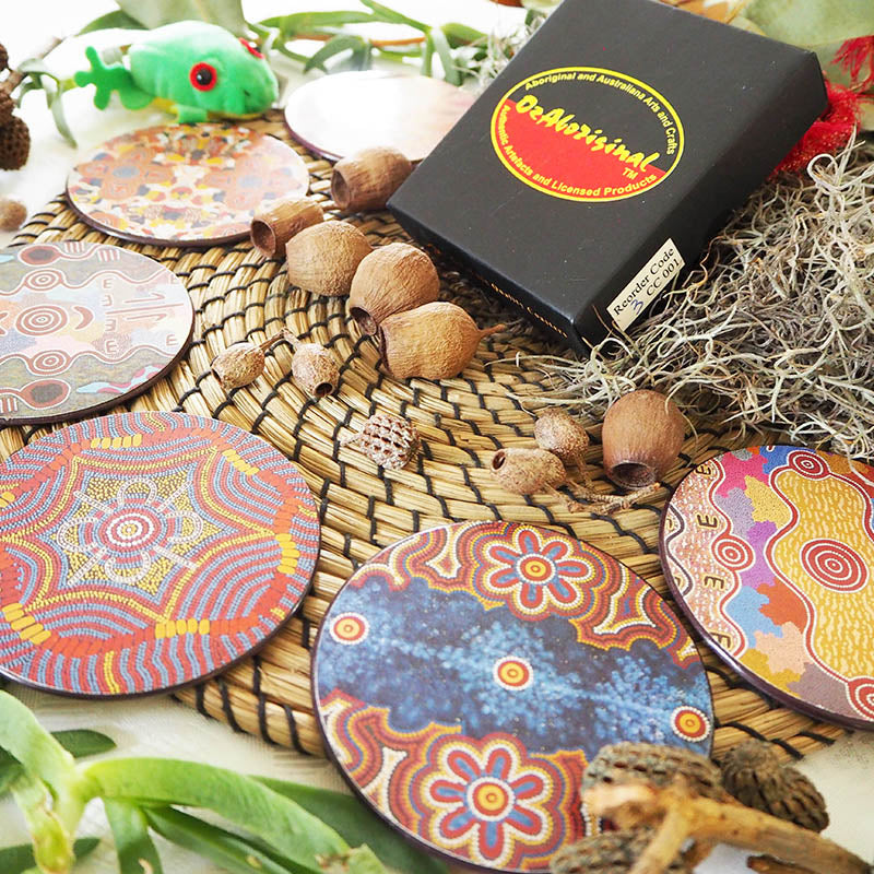 Authentic Aboriginal Coasters - Warumpi Art