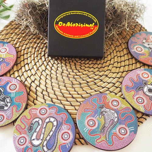 Authentic Aboriginal Coasters - Baribunma Art