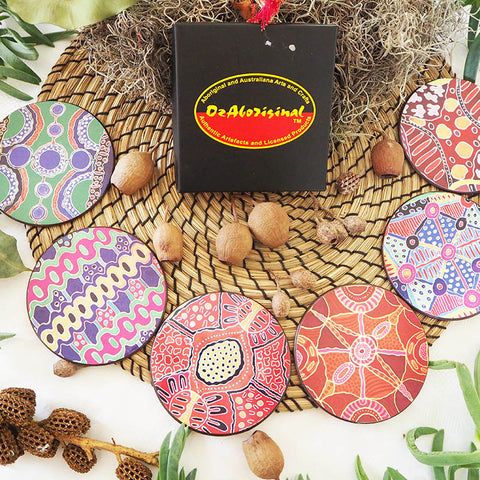 Authentic Aboriginal Coasters - Wantja Art