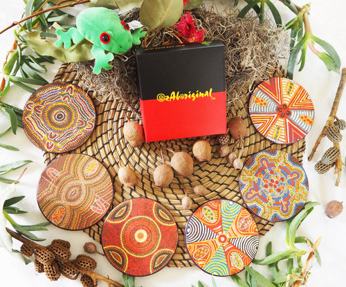 Authentic Aboriginal Coasters - Jukurrpa Art