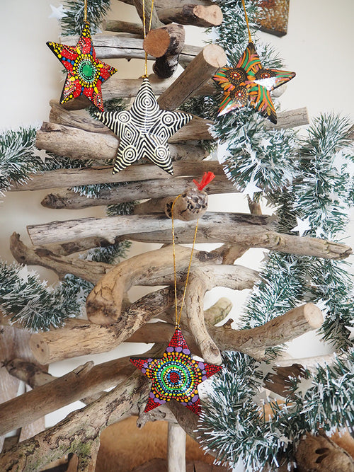 Christmas Star Decorations (set of 5)