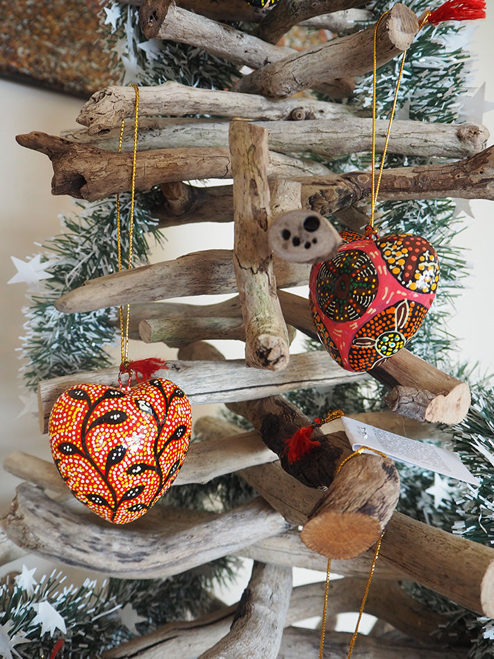 Christmas Heart Decorations (set of 5)