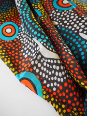 Sarong with authentic aboriginal art pattern