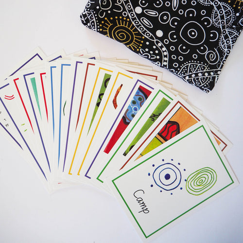 Aboriginal Art Symbols Card Game