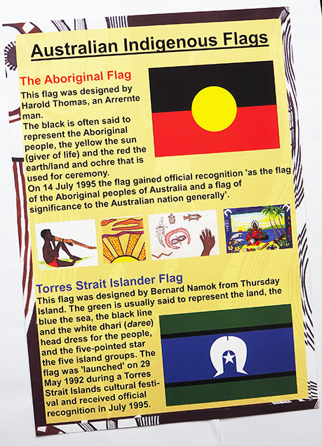 Australian Indigenous Flags Poster