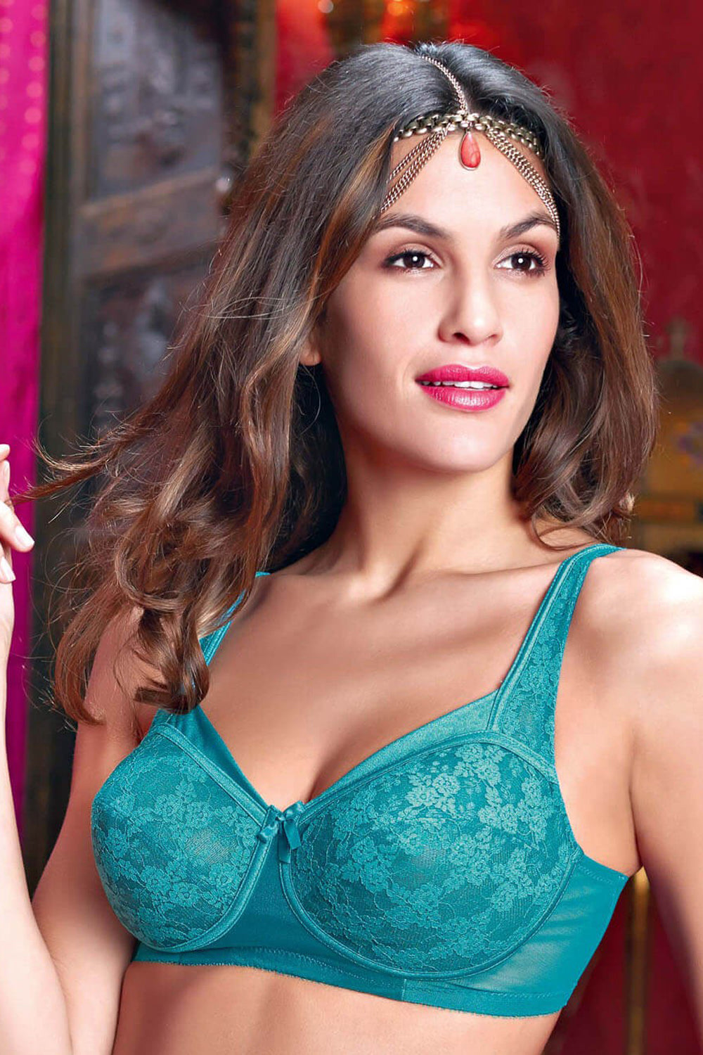 3576d4d0cd17a Enamor Peacock Full Support Lace Bra-FB06 – Neon Apparels