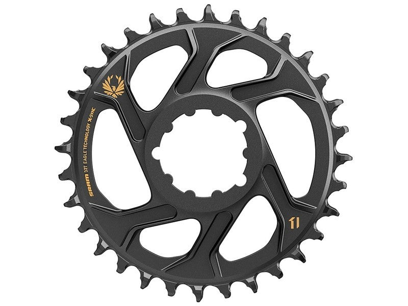 SRAM MTB klinge Eagle X-SYNC 12-speed Direct Mount - 6mm offset (Guld grafik)