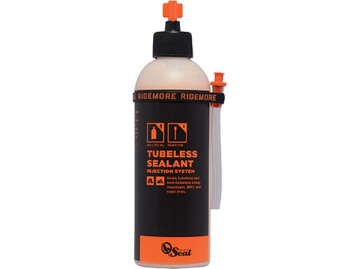 ORANGE SEAL Tubeless Tire Sealant 237ml med påfyldningssystem - Latexbeskyttelse til varmt vejr